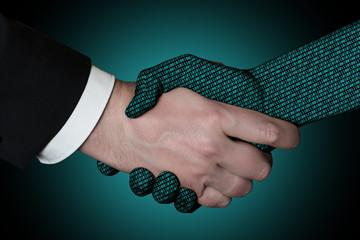 Dos manos estrechadas