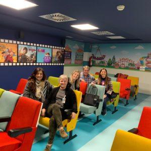 Sala de cine en el Hospital Miguel Servet