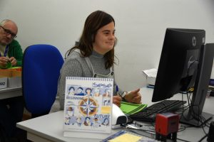 Marta Molina empleada Grupo Sesé con sindrome de Down